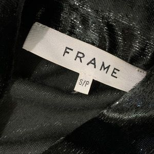 Frame Denim Tops - Frame Metallic Velvet Bow Button Down Shirt